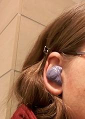 Abdruckzeugs in unserem Ohr